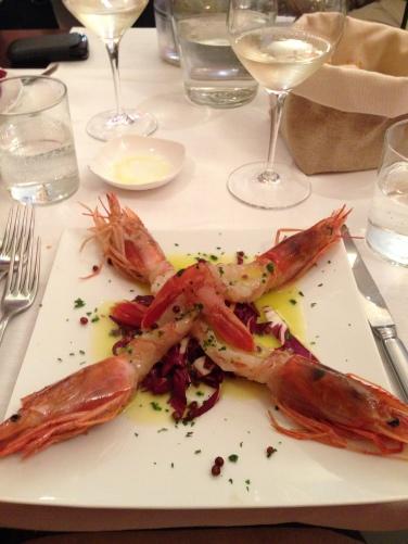 Gamberi rossi - Frescobaldi Wine Bar (Firenze)
