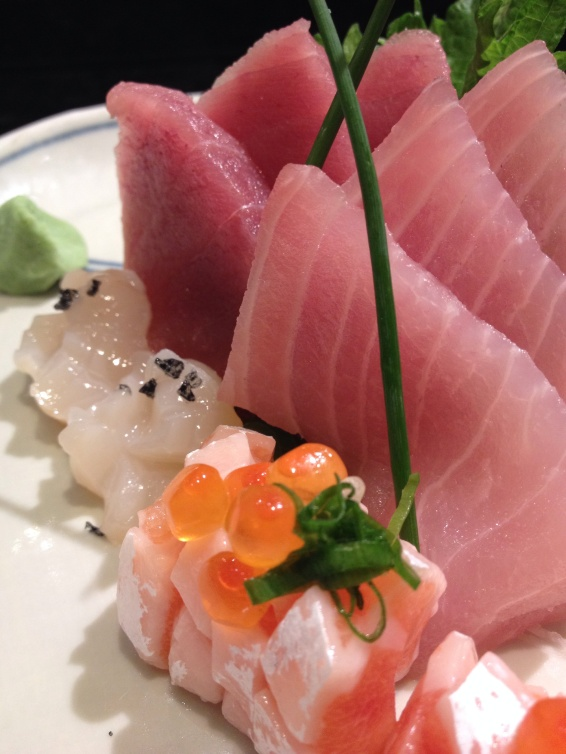 Sashimi gordo e sublime