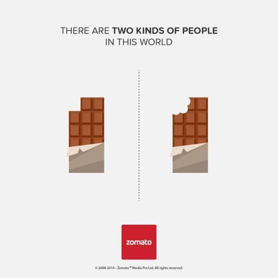 """O que come chocolate """"a quadradinhos""""; e o que morde tudo"""