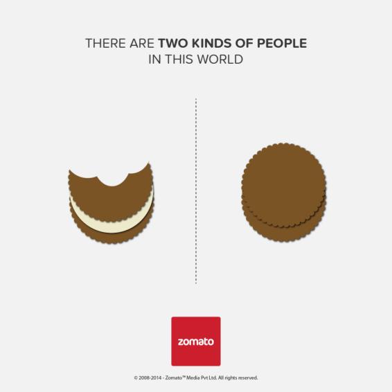 """O que come o biscoito """"normalmente"""", e o que come só o recheio"""