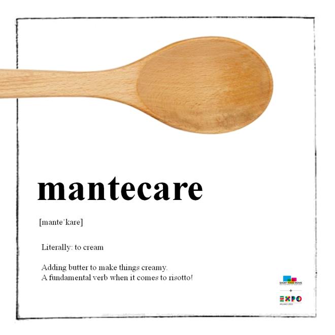 """""""Mantecare"""" - ou seja, fazer o risoto ou a massa ficarem cremosos"""
