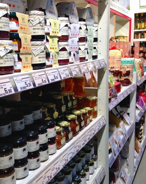 A variedade de produtos do Eataly