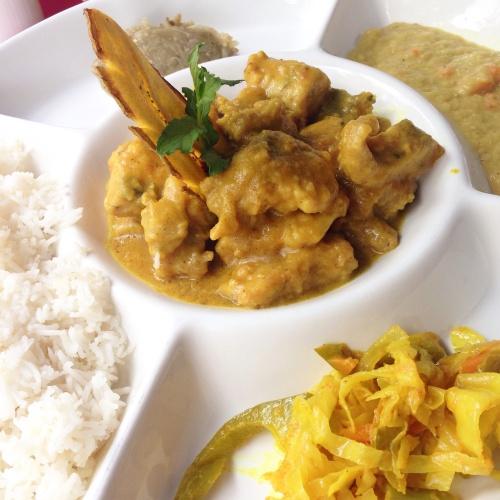 Curry à moda de Seychelles - Pirogue Restaurant, Ilha de Praslin