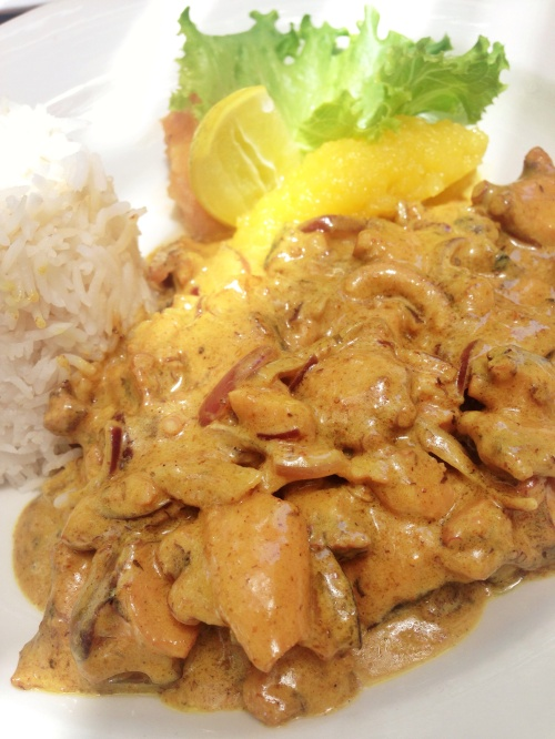 Curry de Polvo, restaurante Village du Pecheur, Praslin