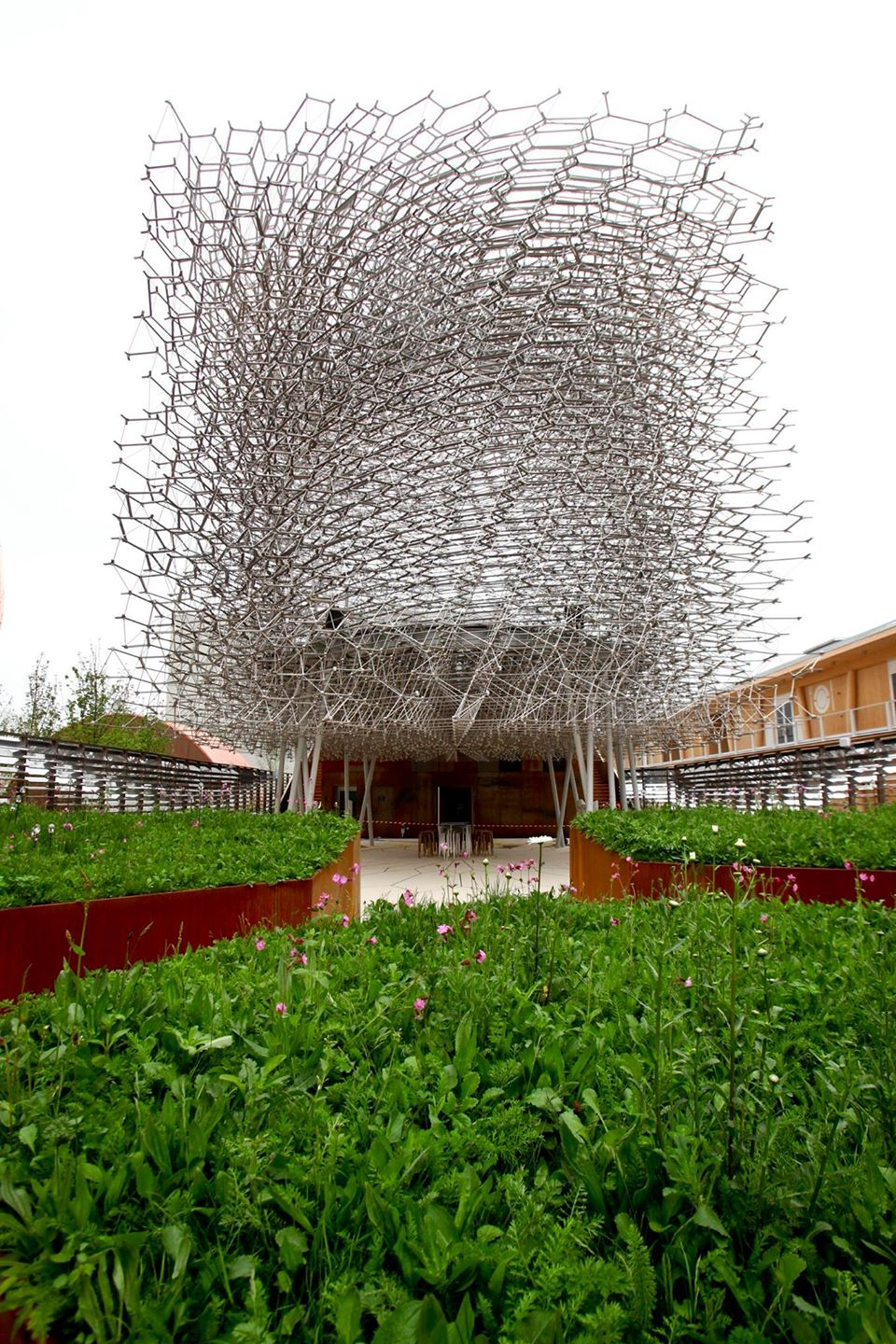 Pavilhão do Reino Unido (Fonte: https://www.facebook.com/Expo2015Milano.it/)