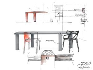 O projeto do interior, por Piero Lissoni (Fonte: http://www.arte.it/notizie/milano/arte-e-carità-per-il-refettorio-ambrosiano-9949)