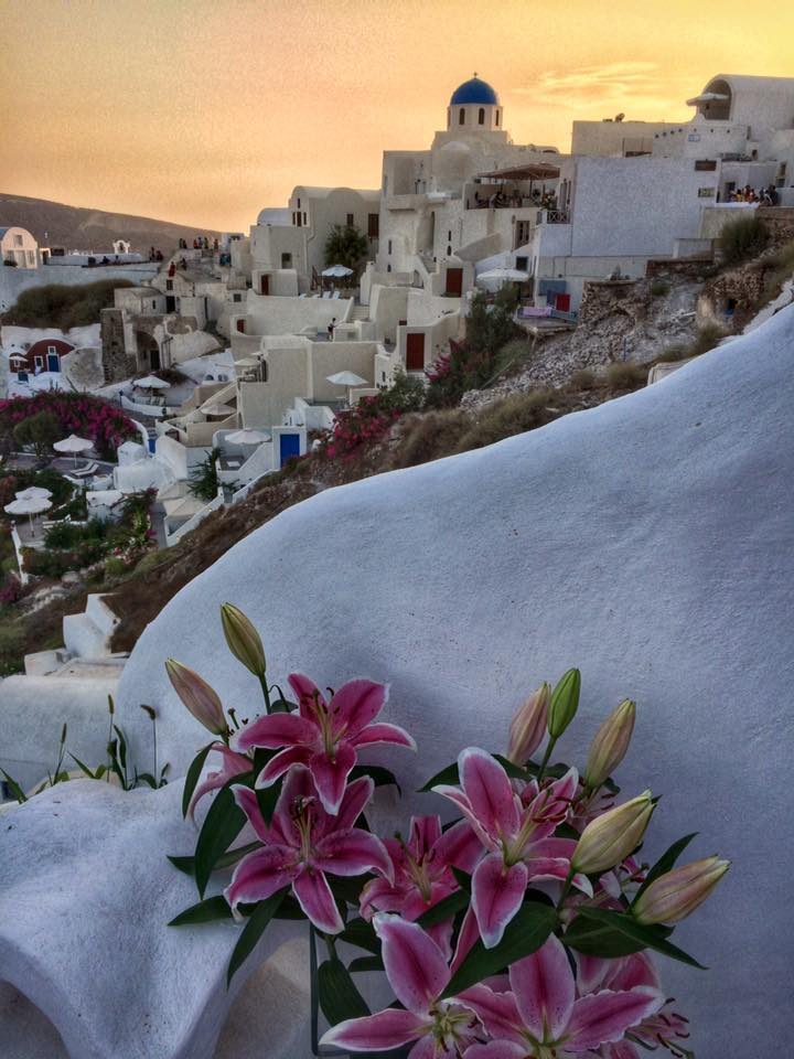 O concorrido pôr-do-sol de Santorini (Foto: Simone Tortini)